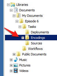 The Encodings Folder
