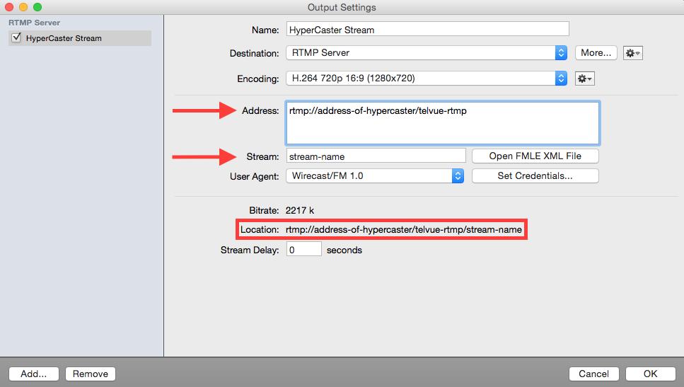 Add an RTMP Stream - TelVue
