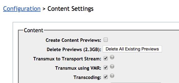 config transcoding