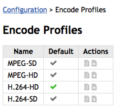 Encode Profiles - TelVue