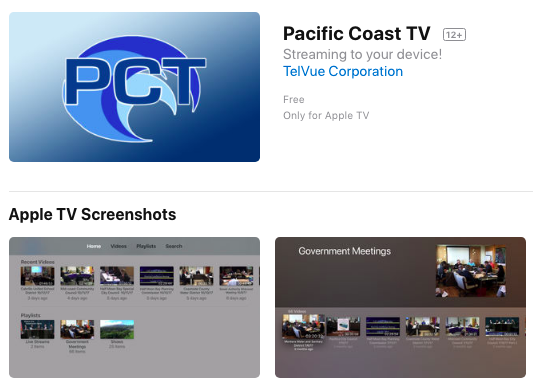 Pacific Coast TV on Apple TV