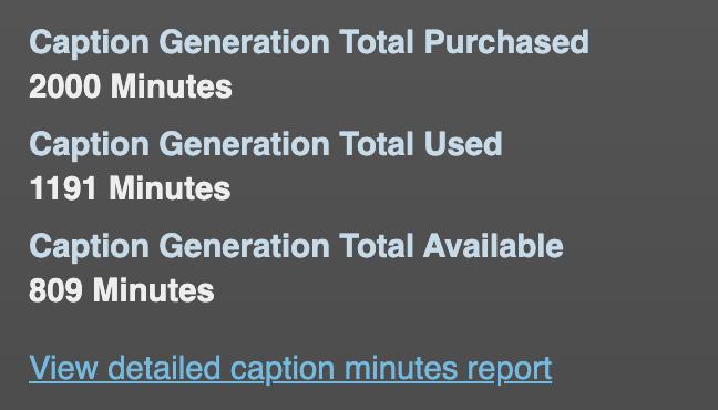 Connect Caption Generation Usage