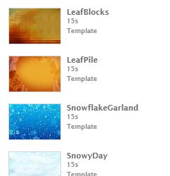 Seasonal InfoVue Backgrounds